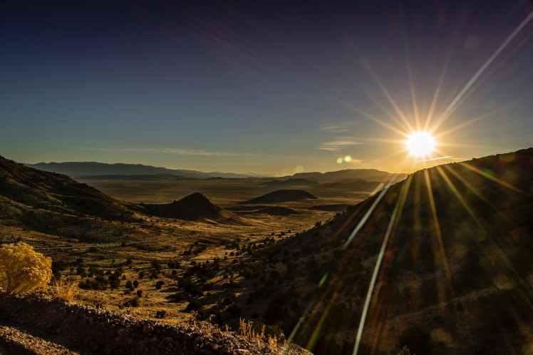 sunrays over mountain