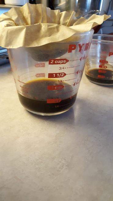 Chaga tincture filtering